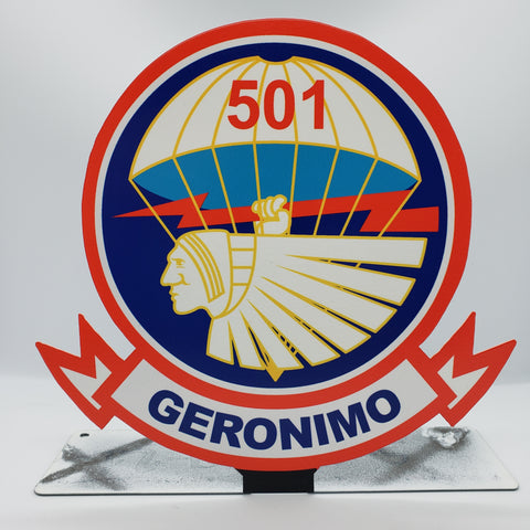 501st PIR 101st Airborne Division Table Sign