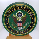 "US Army Sign 10"" Round"