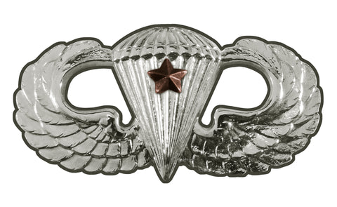 Parachutist Badge Basic Combat Star Sign
