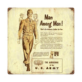 Man Among Men Airborne Recruiting Sign