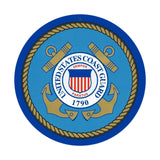 "US Coast Guard Sign 10"" Round"