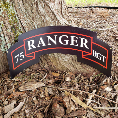 75th Ranger Regiment Scroll Sign
