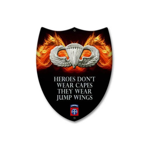 82nd Airborne Heroes Wear Jump Wings Shield Sign