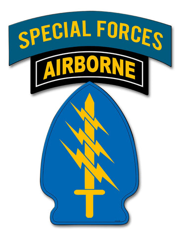 Special Forces Tab with Patch Sign