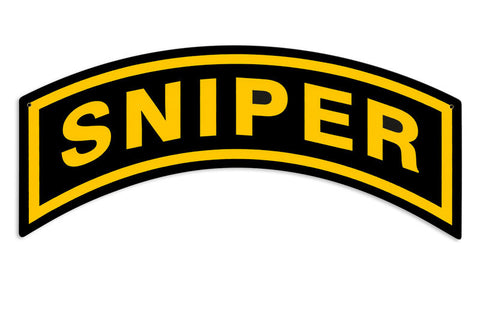 Sniper Tab Metal Sign