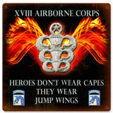 XVIII Airborne Heroes Wear Jump Wings Sign