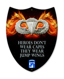 XVIII Airborne Heroes Wear Jump Wings Shield Sign