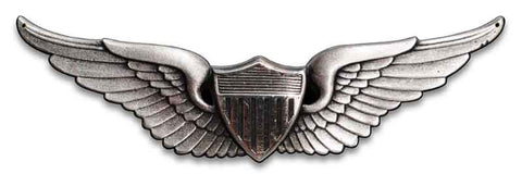 Aviator Wings Army Sign