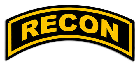 Recon Tab Metal Sign