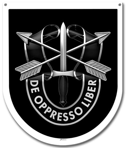 Special Forces 5th Group Sign Small 1961-1964,1985-2016
