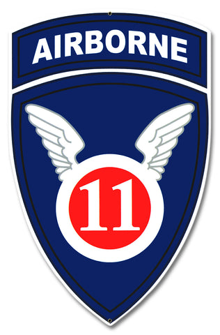 11th Airborne Division WWII Sign