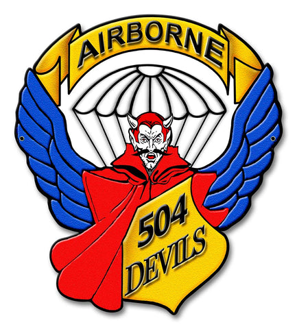 504th Infantry Regiment Devils Sign