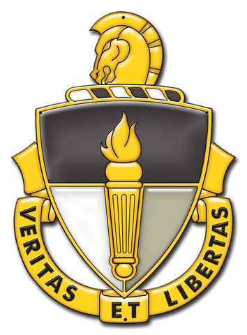Special Forces JFK Special Warfare Center Unit Crest Veritas Et Libertas Sign