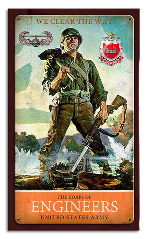 Engineer Air Assault Wood Frame Sign