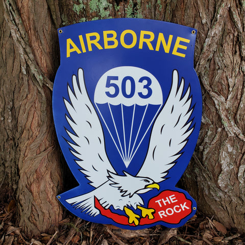 503rd Airborne Division Sign