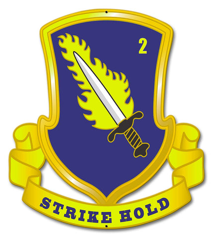 2-504th Airborne Metal Sign