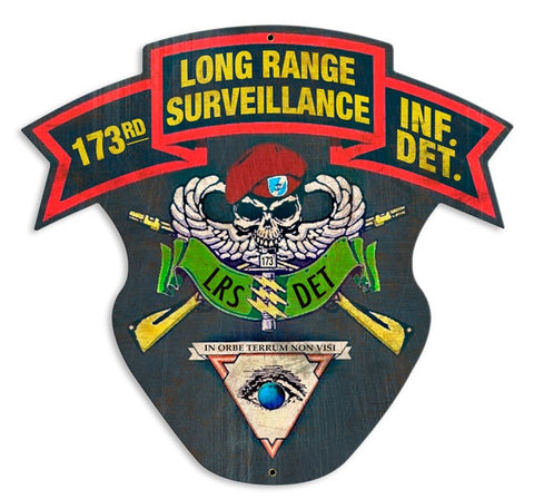 173rd Long Range Surveillance Sign Aged