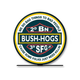 Special Forces 3rd Group 2nd Battalion Bush Hogs Table Sign