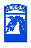 XVIII Airborne Corps Table Sign