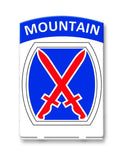 10th Mountain Table Sign