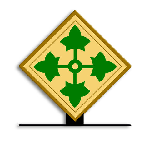 4th Infantry Division Table Sign