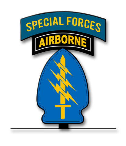 Special Forces Tab and Patch Table Top Sign