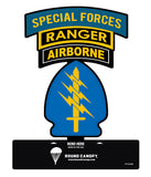 Special Forces Triple Canopy Patch Table Top Sign