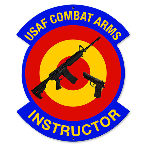 USAF Combat Arms Instructor Metal Sign