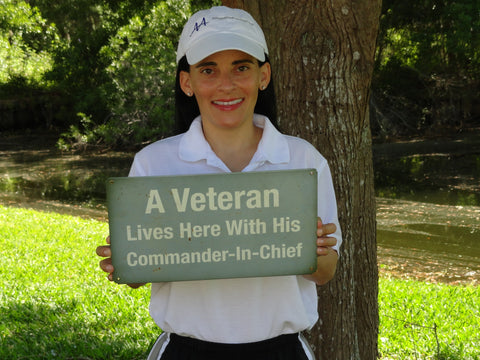 Veteran Lives Commander Sign