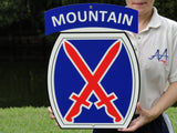 10th Mountain Division Sign