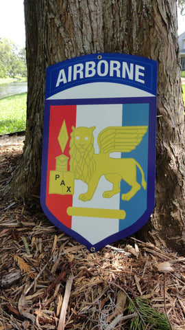 SETAF Airborne Metal Sign