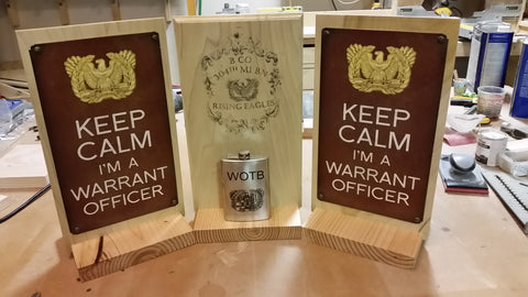 Warrant Officer Keep Calm Sign