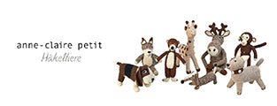 Anne-Claire Petit crocheted animals fair trade wall decoration reindeer head animal trophies