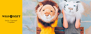 Wild soft animal heads plush animal trophies wall decoration for the children's room
