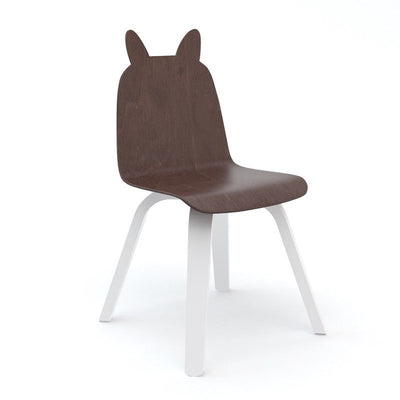 Oeuf NYC Set of 2 bunny children's chairs Walnut / white, chairs, Oeuf NYC - SNOWFLAKE children's furniture concept store