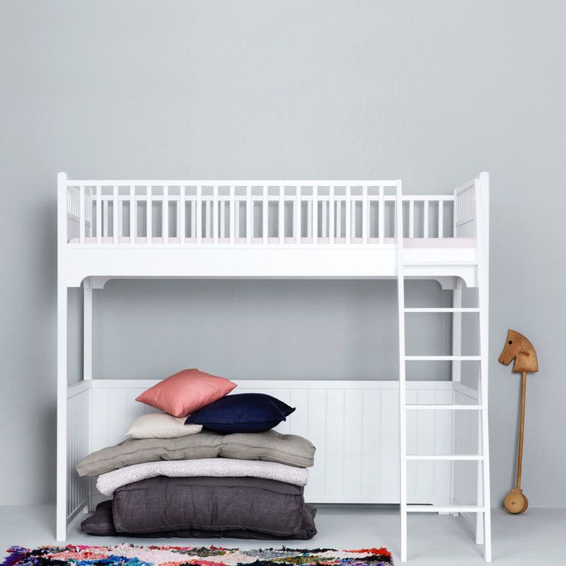 Oliver Furniture <br/> Hochbett Seaside <br/> Weiss 90 x 200 cm,Hochbetten, Oliver Furniture - SNOWFLAKE kindermöbel concept store