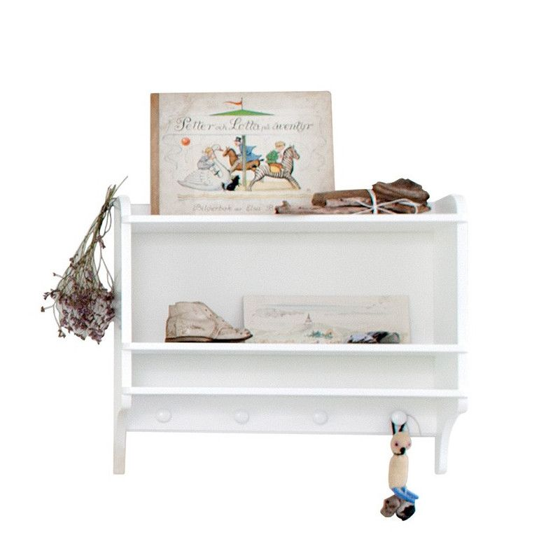 Oliver Furniture <br/> Bücherregal mit Haken Seaside <br/> Weiss,Regale, Oliver Furniture - SNOWFLAKE kindermöbel concept store