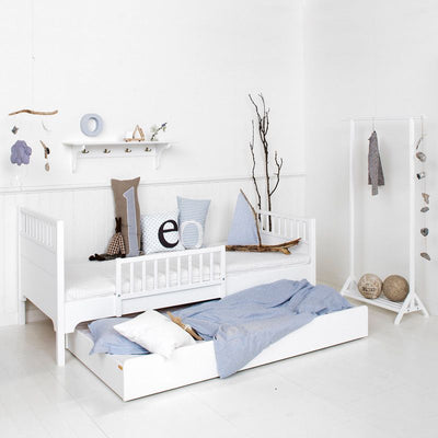Oliver Furniture Seaside pull-out bed White 94 x 182 cm, pull-out beds, Oliver Furniture - SNOWFLAKE children's furniture concept store