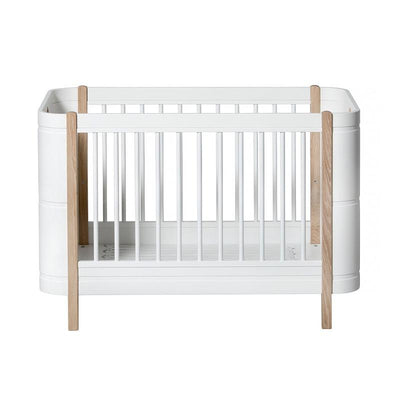 Oliver Furniture Baby cot (and cot) Wood Mini + White / oak, baby beds, Oliver Furniture - SNOWFLAKE children's furniture concept store