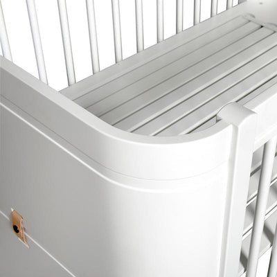 Oliver Furniture Baby cot (and cot) Wood Mini + White, baby beds, Oliver Furniture - SNOWFLAKE children's furniture concept store