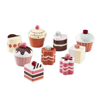 Kids Concept Pralines & cupcake biscuits set 9 pieces Colorful