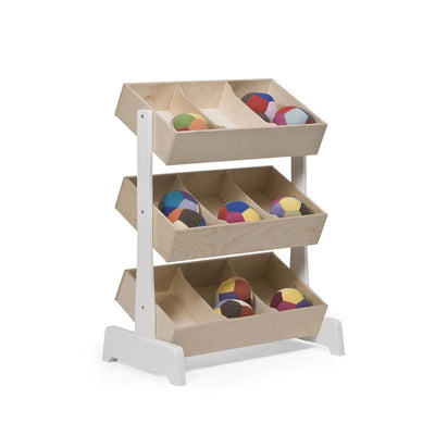 Oeuf NYC Toy shelf Birch / white, shelves, Oeuf NYC - SNOWFLAKE children's furniture concept store