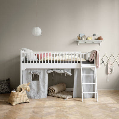Oliver Furniture Seaside Classic Mid-high loft bed 90 x 200 cm White