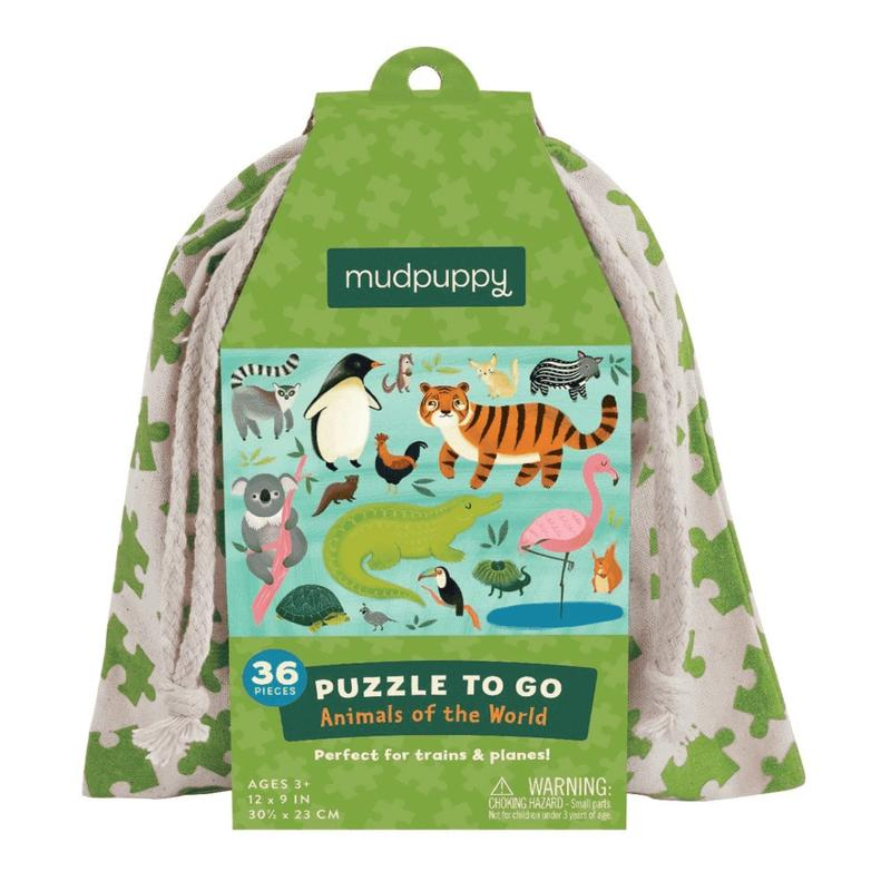 Mudpuppy <br/> Puzzle To Go <br/> Animals Of The World