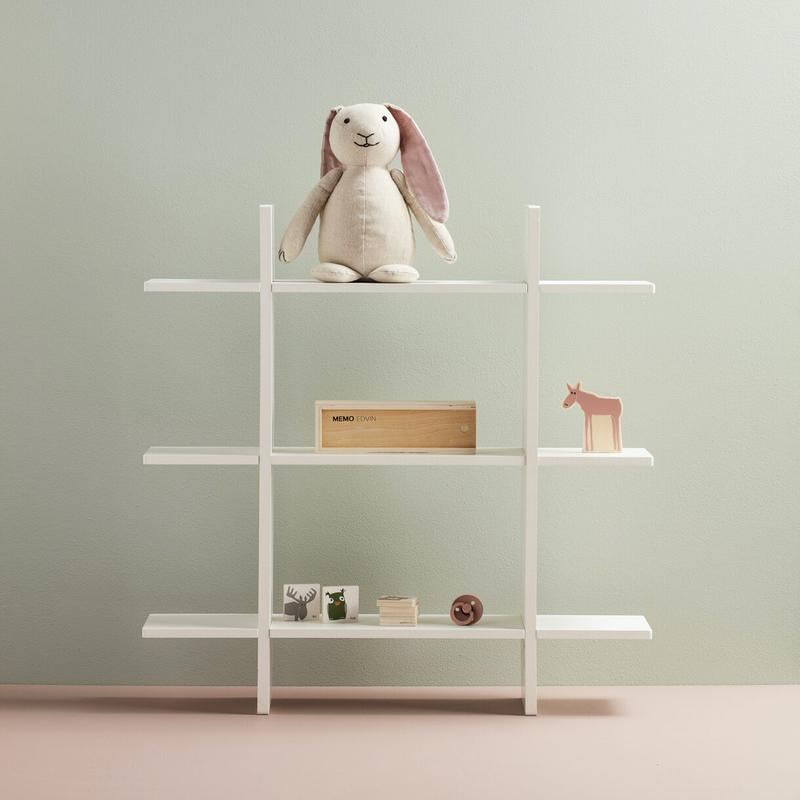 Kids Concept Wall shelf Star with 3 levels White