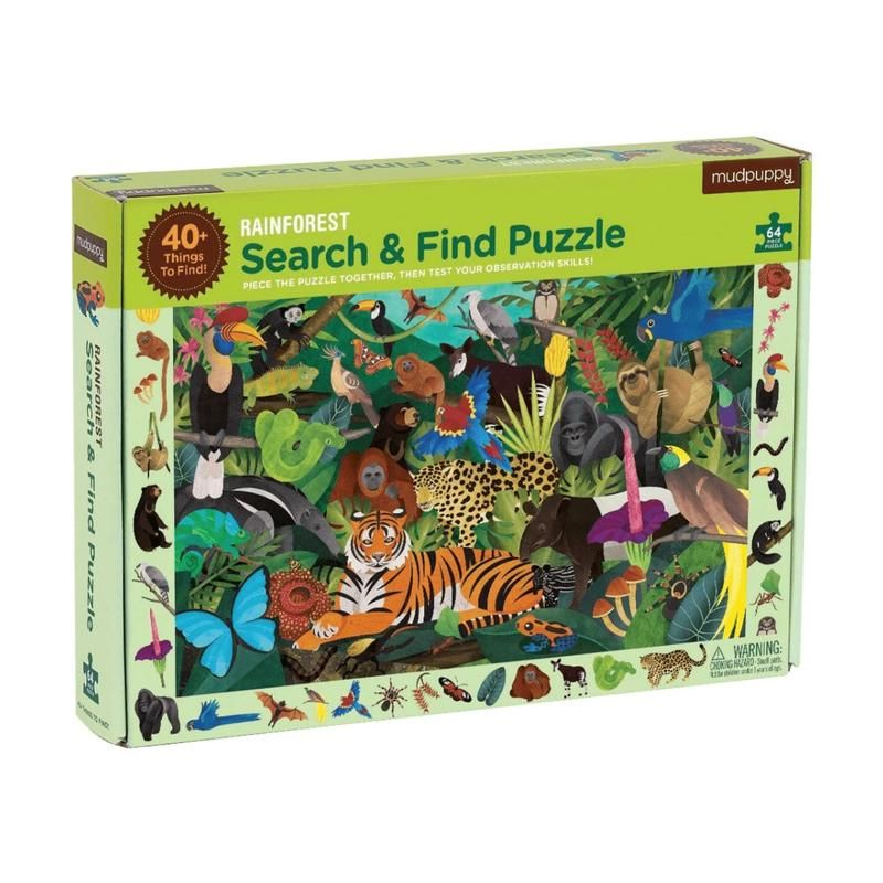 "Mudpuppy <br/> Puzzle ""Search & Find"" <br/> Rainforest"