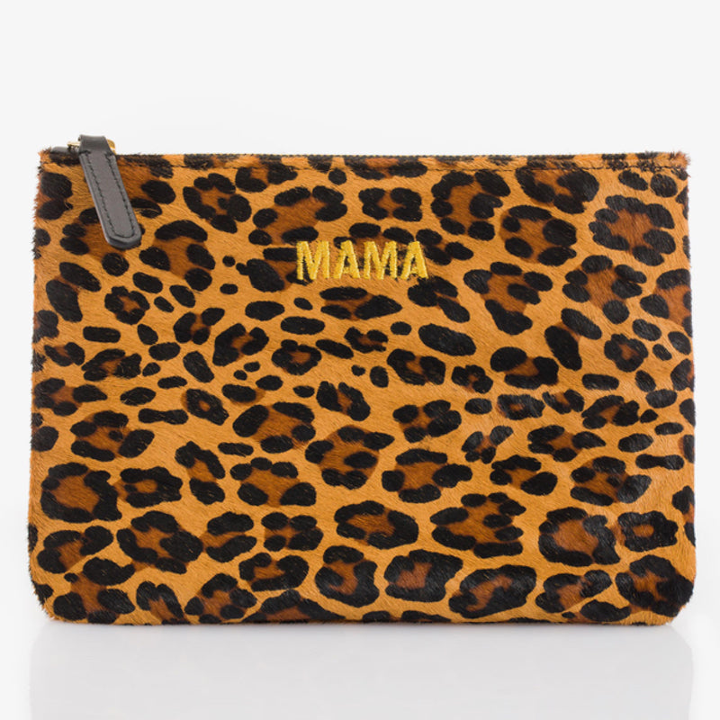 Jem + Bea <br/> Clutch/Necessaire Mama <br/> Leopard