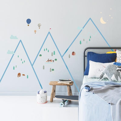 "MIMI`lou <br/> Wandsticker ""MOUNTAINS"" <br/> Bunt"