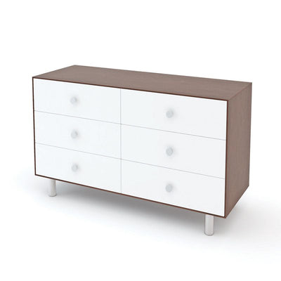 Oeuf NYC Merlin chest of drawers Classic 6 drawers Walnut / white, changing tables, Oeuf NYC - SNOWFLAKE children's furniture concept store