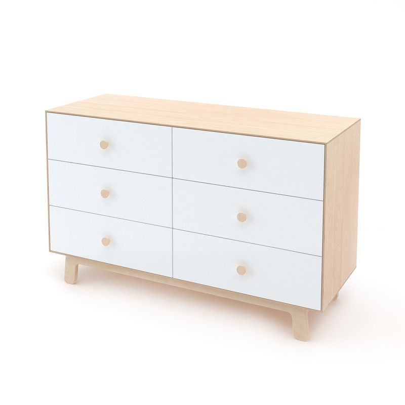 Oeuf NYC Commode Merlin Sparrow 6 tiroirs Bouleau/blanc, tables à langer, Oeuf NYC - Concept store de mobilier enfant SNOWFLAKE